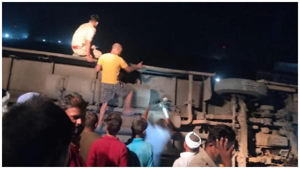 ఘోరం: జేసీబీని ఢీకొట్టిన ఆర్టీసీ బస్సు -15మంది దుర్మరణం, 24 మందికి గాయాలు