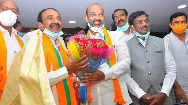 ఆపరేషన్ హుజూరాబాద్: టీబీజేపీలో మేధోమథనం: రాష్ట్ర కార్యాలయంలో ఈటల