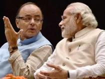 Pm Narendra Modi Meets Arun Jaitley At His Residence