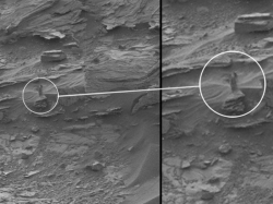 Is It Rock Shadow Or Woman On Mars Internet Divided On Nasas Mars Photograph