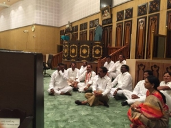 Opposition Mlas Protest Sitting Assembly