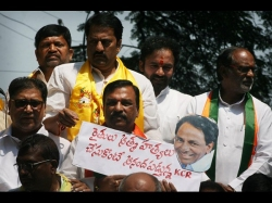 Tdp Bjp Mlas Demonstration Against Suicide Farmers At Hyderabad
