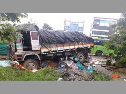 Two Men Killed After Being Hit Lorry At Madinaguda