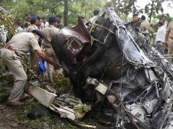 Helicopter Crashes Mubai Aarey Colony
