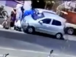 Cctv Shows Pune Car Accident People Flung Air 3 Year Old Dead