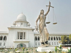 Bangladesh Removes Godess Law Statue From Court Complex