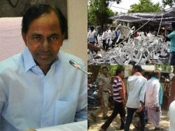 Farmers Handcuffs Dharna Chowk Unrest Kcr Slams Cops