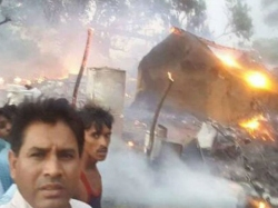 Mla Clicks Selfie At Fire Incident Site Slammed On Social Media
