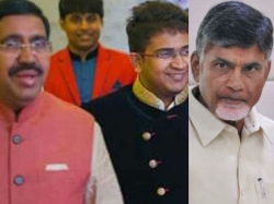 Chandrababu Met Minister Narayana Says Condolance His Son Death
