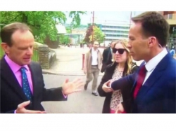 Reporter Unintentionally Gropes Woman On Live Tv Gets Slapped