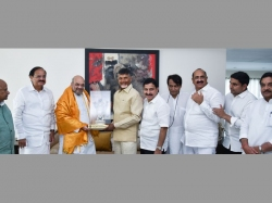 Chandrababu Naidu Hosts Lunch Amit Shah At His Residence Ap