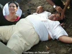 Congress Leader Dk Bharatasimha Reddy Injured Road Accident