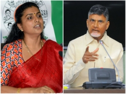 Roja Takes On Ap Ministers Over Vizag Land Scam