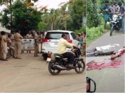 One Killed Road Mishap Dalits Suspect Foul Play
