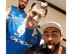 Ms Dhoni Birthday Cutting Cake With Wife Sakshi Dhoni Taking Awalk With Ziva