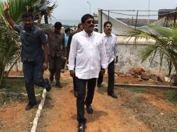 Ganta Srinivasa Rao Trouble Over Land Deal