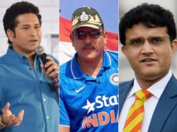Sourav Sachin Differ Over Shastri Last Years Tiff Haunts Team India Coach Selection