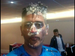 Birthday Boy Ms Dhoni Cuts Cake With Team India West Indies Watch