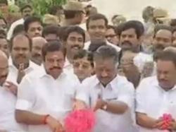 Ops Eps Pay Tributes Jayalalithaa Memorial Marina Beach