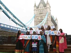 Telangana Nri Women Support Siricilla Weavers