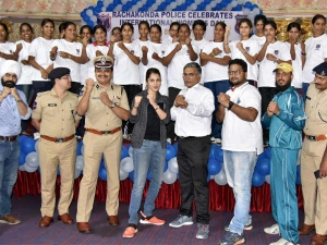 Hyderabad Women Cops Undergo Training Hapkido