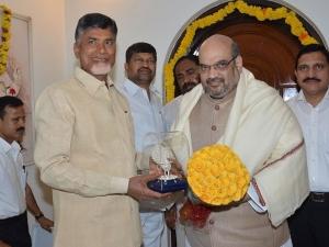 Amit Shah Indirectly Targets Chandrababu Vijayawada Meet
