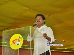 Revanth Reddy Walk From Mahanadu During The Meeting Is Going