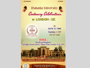 Osmania University Centenary Celebrations London