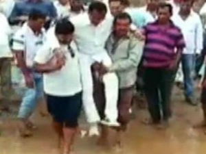 Odisha Mla Manas Madkami Does Shivraj Crosses Mud Supporters