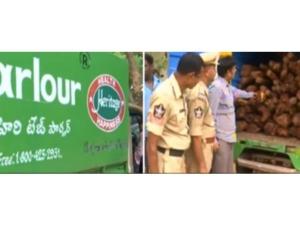 Fake Heritage Vehicle Containing Redwood Is Seized Tirupati