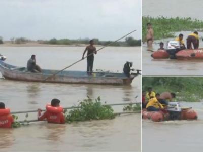 కృష్ణా నదిలో నలుగురు బీటెక్ విద్యార్థుల గల్లంతు