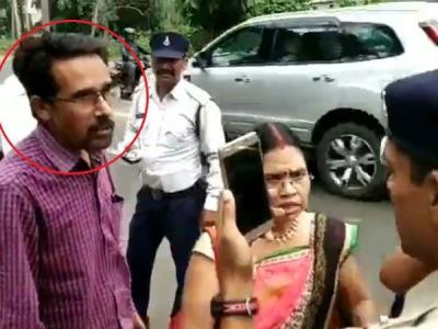 సీఎం బావను నాకే జరిమానా వేస్తారా?: వ్యక్తి వీరంగం(వీడియో)